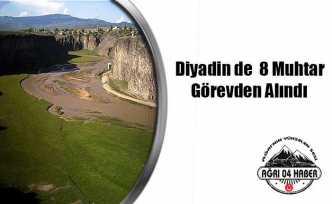 Diyadin'de Görevden Alınan Muhtarlıkların İsimleri