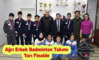Ağrı Erkek Badminton Takımı Yarı Finalde