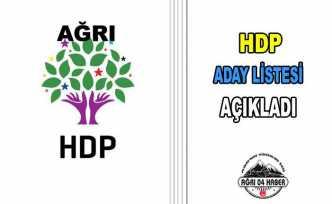 HDP Ağrı Meclis Üyeleri Aday Listelerini Açıkladı