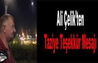Ali Çelik Teşekkür Mesajı Yayımladı