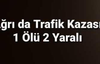 Ağrı da Trafik Kazası 1 Ölü 2 Yaralı