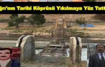 Ağrı'nın Tarihi Köprüsü Onarılmayı Bekliyor