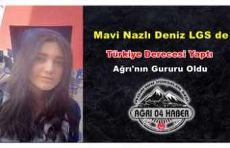Mavi Nazlı Deniz'den LGS de Türkiye Derecesi Geldi