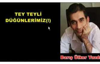 TEY TEYLİ DÜĞÜNLERİMİZ(!)