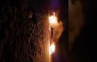 PKK Ağrı'da iki yakarak kullanılamaz hale getirdi.