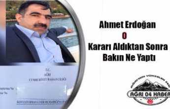 Ahmet Erdoğan Karara İlişkin Konuştu