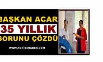 Başkan Acar ;Tek Tuşla Doğubayazıt'ı 2050 ye Taşıdı