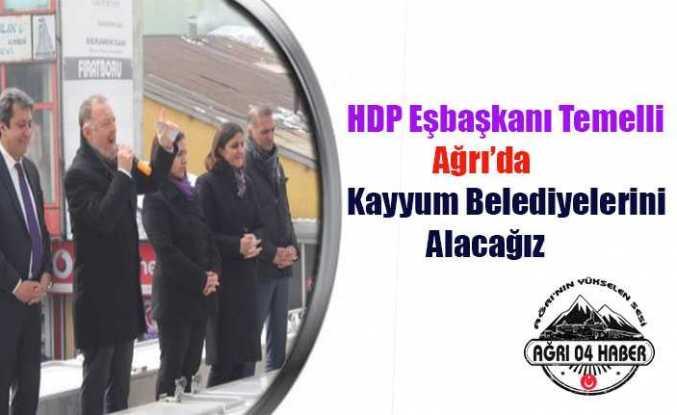 HDP Eşbaşkanı Temelli Ağrı'da:Kayyum Belediyelerini Alacağız