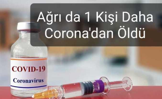 Ağrı da Corona Virüs Can Aldı