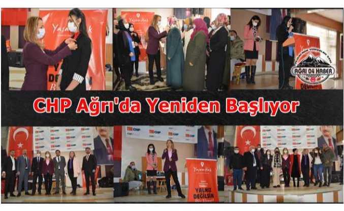 Ağrı'da CHPli Kadınlar Ak Parti Kongresini Gölgede Bıraktı
