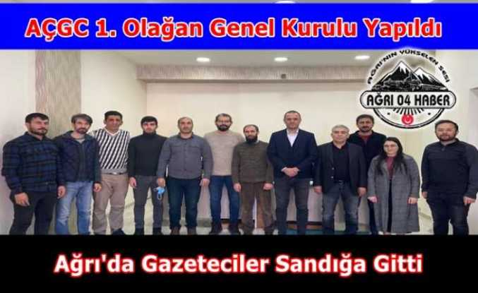 Ağrı Çalışan Gazeteciler Cemiyeti 1. Olağan Genel Kurulu Yapıldı