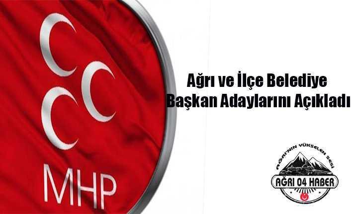 Ağrı MHP Adaylarını Açıkladı