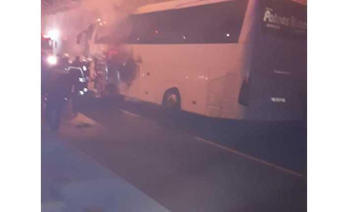 Ağrı Otobüsünde  Seyir Halinde Yangın Çıktı