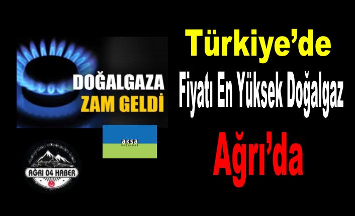 Türkiye'nin En Pahalı Doğalgazı Kullanan Ağrı'ya Bir Zam Daha!