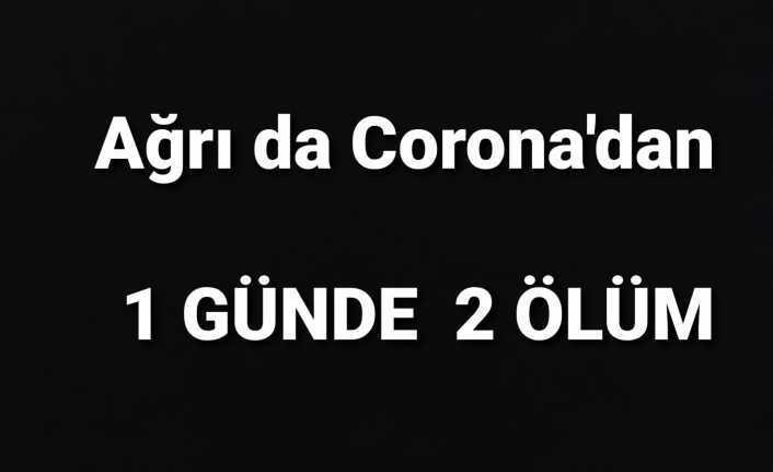 Ağrı da Corona'dan 2 Ölüm Gerçekleşti
