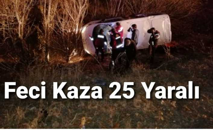 Ağrı da Trafik Kazası 25 Kişi Yaralandı